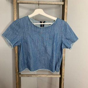 Hippie Laundry Denim Crop Top